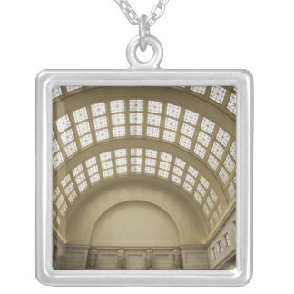 USA, Washington, D.C. View of ceiling 2 Silver Plated Necklace