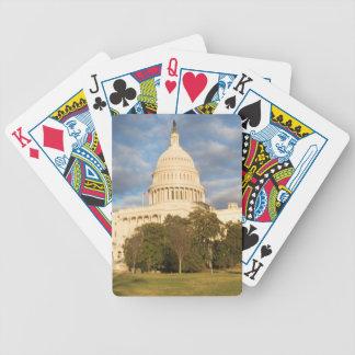 USA, Washington DC, Capitol building Bicycle Playing Cards