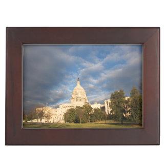 USA, Washington DC, Capitol building Keepsake Box
