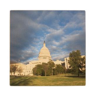 USA, Washington DC, Capitol building Maple Wood Coaster
