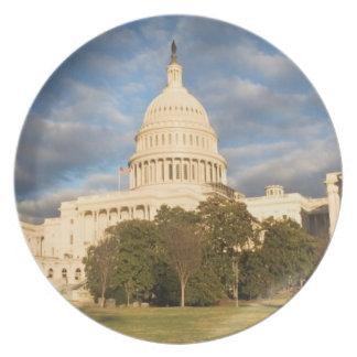 USA, Washington DC, Capitol building Plate