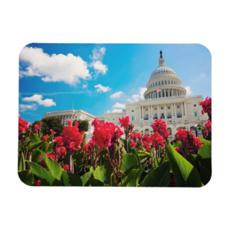 USA, Washington DC, Capitol Building Rectangular Photo Magnet