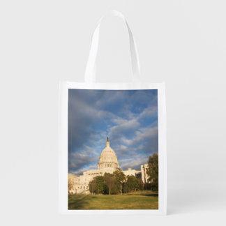 USA, Washington DC, Capitol building Reusable Grocery Bag