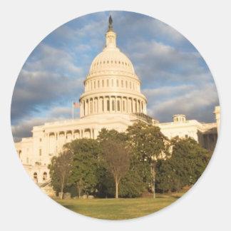 USA, Washington DC, Capitol building Round Sticker