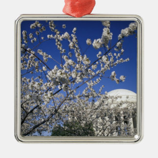 USA, Washington DC. Cherry Blossom Festival and 2 Silver-Colored Square Decoration