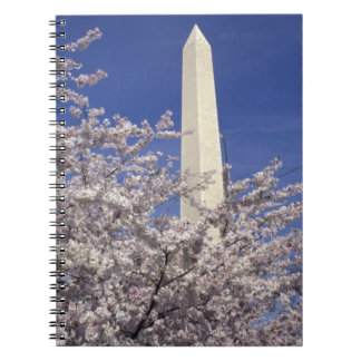 USA, Washington DC. Cherry Blossom Festival and Note Book