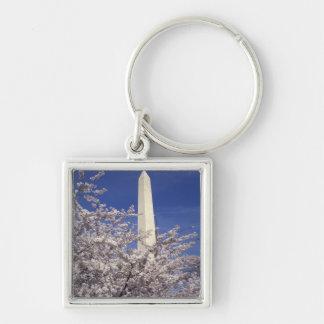 USA, Washington DC. Cherry Blossom Festival and Silver-Colored Square Key Ring