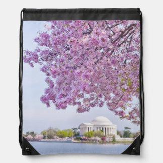 USA, Washington DC, Cherry tree in bloom Drawstring Bag