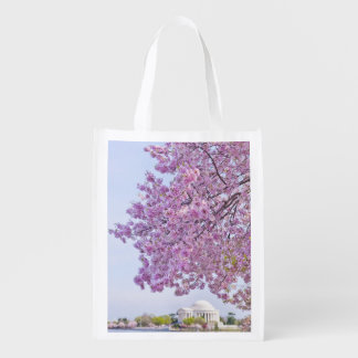 USA, Washington DC, Cherry tree in bloom Reusable Grocery Bag