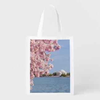 USA, Washington DC, Cherry tree Reusable Grocery Bag