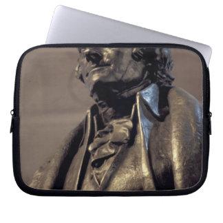 USA, Washington DC. Thomas Jefferson Memorial. Laptop Computer Sleeves