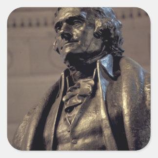 USA, Washington DC. Thomas Jefferson Memorial. Square Stickers