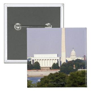 USA, Washington DC, Washington Monument and US 15 Cm Square Badge