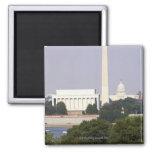 USA, Washington DC, Washington Monument and US Refrigerator Magnet