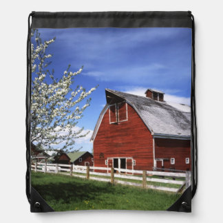 USA, Washington, Ellensburg, Barn Drawstring Bag