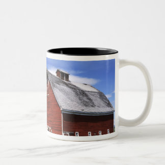 USA, Washington, Ellensburg, Barn Two-Tone Coffee Mug