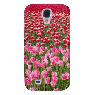 USA, Washington. Field Of Multicolored Tulips Galaxy S4 Case