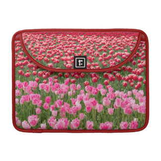 USA, Washington. Field Of Multicolored Tulips Sleeve For MacBooks