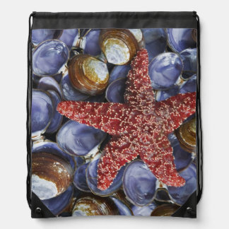 USA, Washington, Hood Canal, Seabeck. Close-up Drawstring Bag