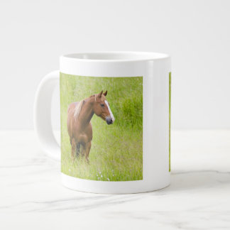 USA, Washington, Horse in Spring Field, Large Coffee Mug