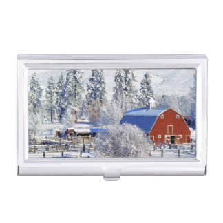 USA, Washington, Methow Valley, Barns in Business Card Holder