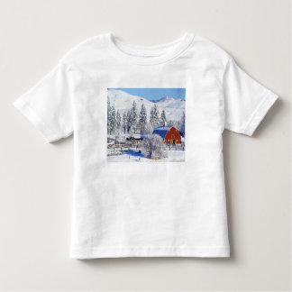 USA, Washington, Methow Valley, Barns in Toddler T-Shirt