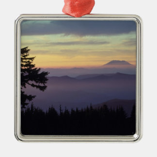 USA, Washington. Mount St. Helens seen through Silver-Colored Square Decoration