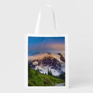 USA, Washington, Mt. Rainier. Morning sun