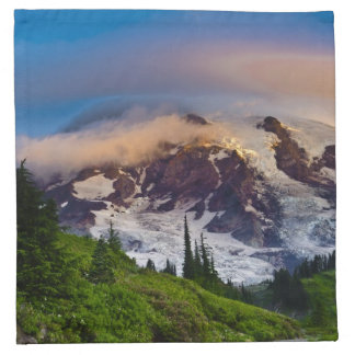 USA, Washington, Mt. Rainier. Morning sun Napkin