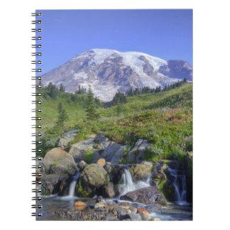 USA, Washington, Mt. Rainier NP, Mt. Rainier and 2 Notebooks