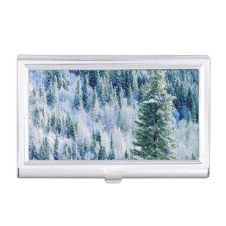 USA, Washington, Mt. Spokane State Park, Aspen Business Card Holder