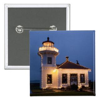 USA, Washington, Mukilteo. Mukilteo Lighthouse Pinback Buttons