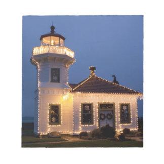 USA, Washington, Mukilteo. Mukilteo Lighthouse Notepad