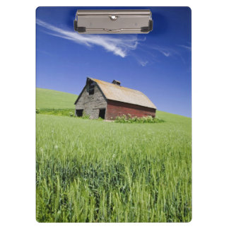 USA, Washington, Old Red Barn in the Spring Clipboard