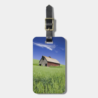 USA, Washington, Old Red Barn in the Spring Luggage Tag