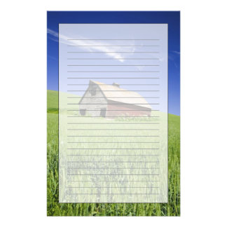 USA, Washington, Old Red Barn in the Spring Stationery