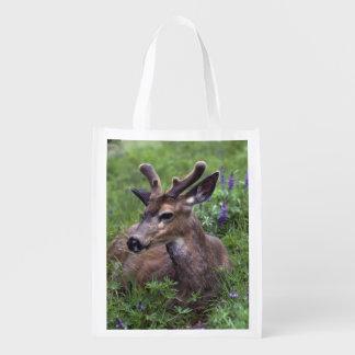 USA, Washington, Olympic National Park. Deer Reusable Grocery Bag
