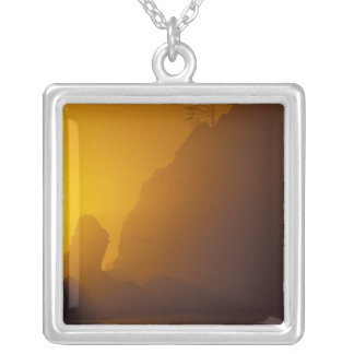 USA, Washington, Olympic Nat'l Park, Sunset, 2 Silver Plated Necklace
