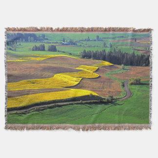 USA, Washington, Palouse, Whitman County 2 Throw Blanket