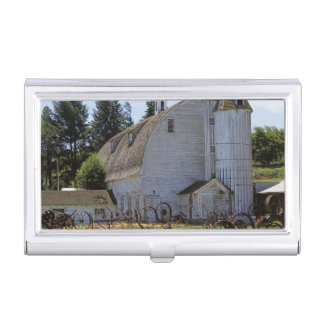 USA, Washington, Pullman, Barn Business Card Holder