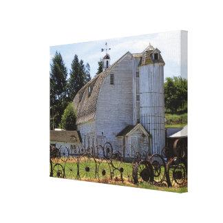 USA, Washington, Pullman, Barn Canvas Print