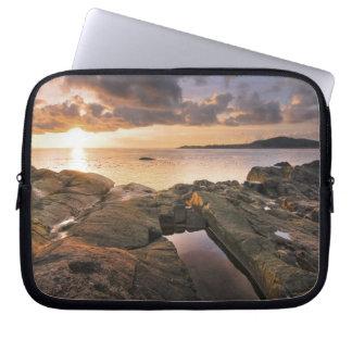 USA, Washington, San Juan Islands.  A dramatic 2 Laptop Sleeve