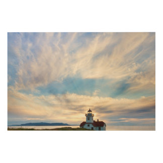USA, Washington, San Juan Islands. Sunset 2 Wood Wall Art