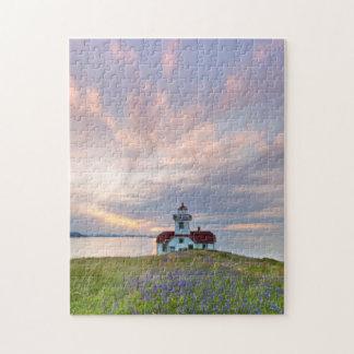 USA, Washington, San Juan Islands. Sunset Jigsaw Puzzle