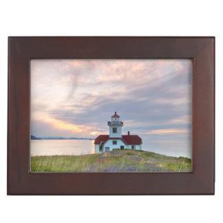 USA, Washington, San Juan Islands. Sunset Keepsake Box