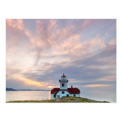 USA, Washington, San Juan Islands. Sunset Post Card