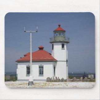 USA, Washington, Seattle, Alki Point Lighthouse, 2 Mouse Mat