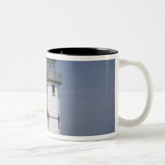 USA, Washington, Seattle, Alki Point Lighthouse, 2 Two-Tone Coffee Mug
