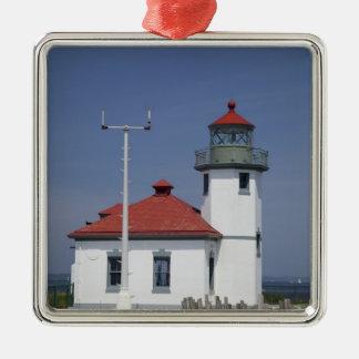 USA, Washington, Seattle, Alki Point Lighthouse, Christmas Ornament