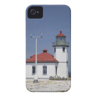 USA, Washington, Seattle, Alki Point Lighthouse, iPhone 4 Covers